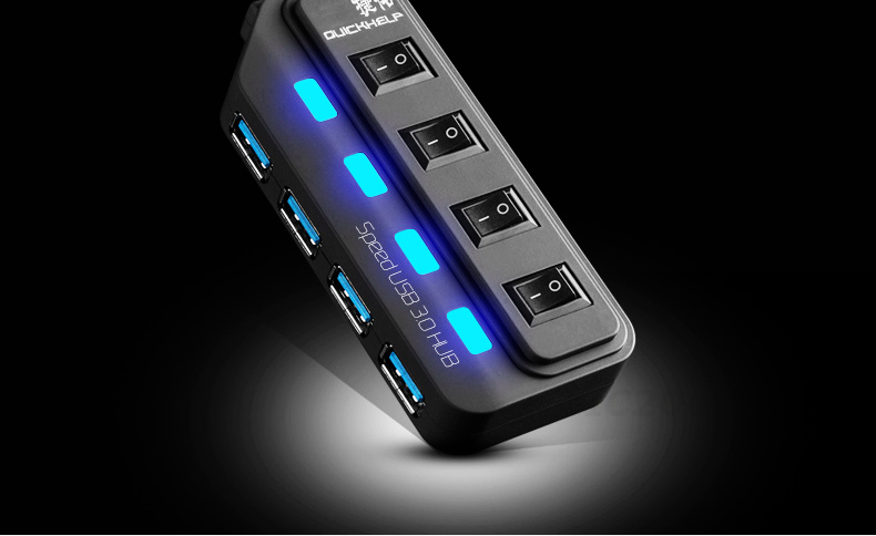 USB 3.0 HUB with switch
